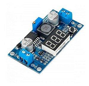Módulo Regulador de Tensão Ajustável LM2596 com Display