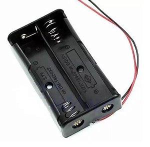 Suporte para Bateria de Lítio 18650 2 unidades  - preto