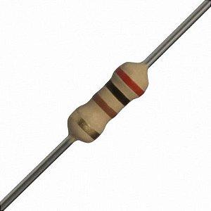 Resistor de filme de carbono de 1/4 de watt - 200R
