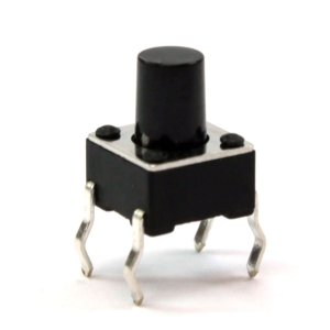 Push Button preto (12mm x 12mm x 12mm)