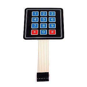 Teclado Membrana (teclado matricial) 4X3