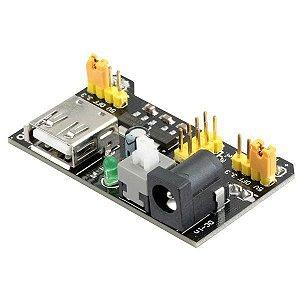Modulo fonte ajustável para protoboard 3,3 V - 5V