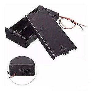 Suporte para 2 baterias 18650 com chave ON/OFF