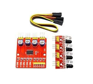 Módulo sensor para rastreamento de linha IR 4 sondas