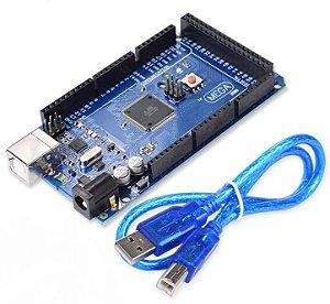 Arduino MEGA 2560 R3 (Compatível) + cabo USB