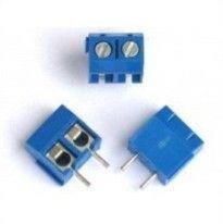 Conector Borne KRE - 2 Terminais Azul (passo 5.08mm)