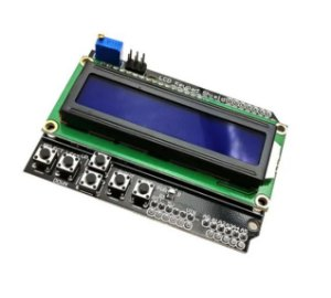 Display LCD 16x2 com teclado