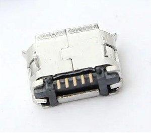 Conector Micro USB tipo B fêmea 5 pinos