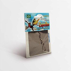 Espelho Inox Pequeno Pássaros