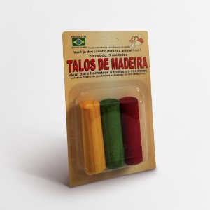Talos de Madeira Roedores
