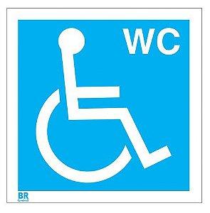 Placa Branca Wc Cadeirante 20X20cm