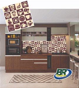 Adesivo de Parere Vinílico Coffee 2 100x60cm