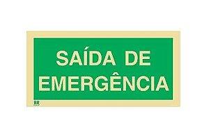 Placa Saída de Emergência 60x40cm Fotoluminescente