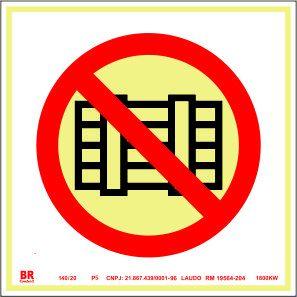 Placa Proibido Obstruir Este Local P5 20x20cm Fotoluminescente