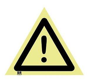 Placa Alerta Geral A1 20X20cm Fotoluminescente