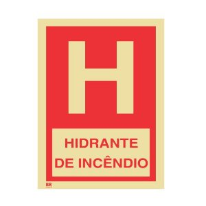 Placa Hidrante de Incêndio 30X40 Fotoluminescente