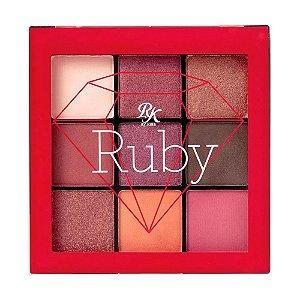 RK Paleta de Sombras 9 cores - Ruby
