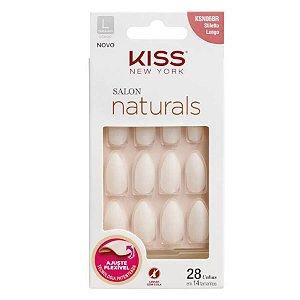 KISS NY UNHA SALON NATURAL LONGO STILETTO