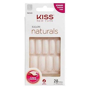 KISS NY UNHA SALON NATURAL LONGO QUADRADO