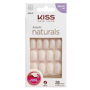 KISS NY UNHA SALON NATURAL MEDIO OVAL