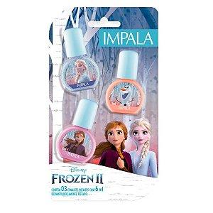 Impala Disney Frozen 2 Kit – Esmalte Enfrente seus Medos + Abraços Quentinhos + Nunca Desista