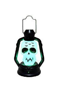 Decoração Mini Lanterna Caveira Pisca