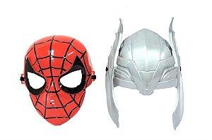 Kit 2 Máscaras Thor e Homem Aranha Vingadores Avengers