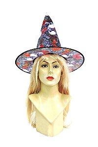 Chapéu de Bruxa Estampado