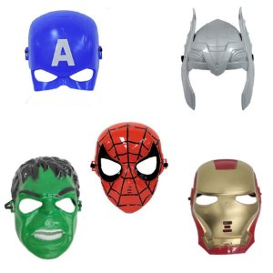Mascara Capitão America Thor Hulk Homem De Ferro Homem Aranh