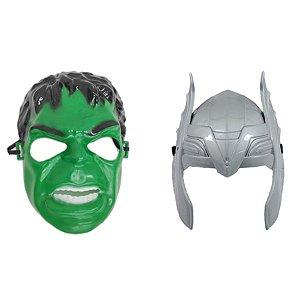 Mascara Hulk E Thor Vingadores Super Heróis