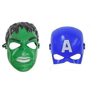 Mascara Hulk E Capitão América Vingadores Super Heróis