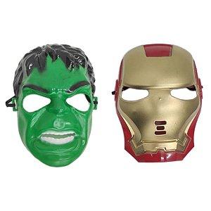 Mascara Hulk E Homem De Ferro Vingadores Super Heróis