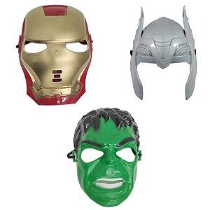Mascara Homem De Ferro Thor E Hulk Vingadores Super Heróis