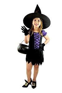 Fantasia Bruxa Infantil Morceguinha