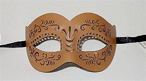 Mascara Veneza Couro Marrom