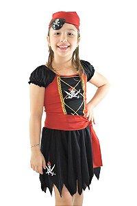 Fantasia Pirata Feminina Infantil (Piratinha)