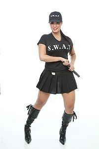 Fantasia Policial Feminina Swat Adulto