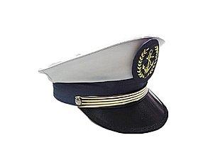 Quepe Almirante Capitão da Marinha Adulto Luxo
