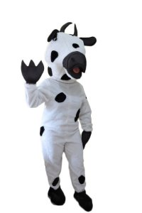 Fantasia Vaca Mascote Pelucia