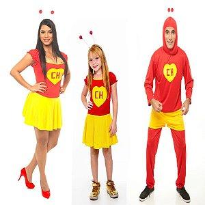 Fantasia Chapolin Familia (Pai, Mãe e Filha)