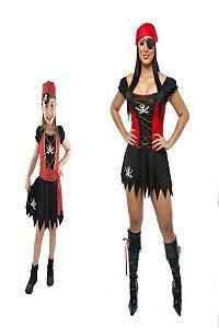 Fantasia Pirata Feminina Mãe e Filha