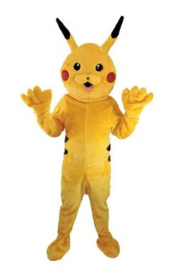Fantasia Pikachu Pokemon Mascote Adulto