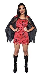 Fantasia Vampira Adulta ( Kit 2 Peças)