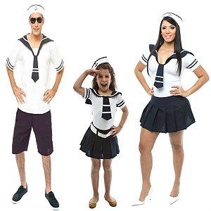 Fantasia Marinheiro E Marinheira Adulto E Infantil