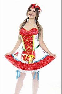 Vestido Festa Junina Luxo Adulto