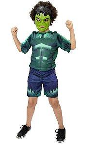 Fantasia Hulk Infantil Vingadores Avengers