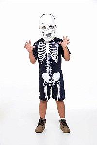 Fantasia Esqueleto Caveira Infantil