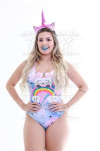 Fantasia Unicornio Collant Body Adulto