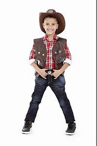 Colete Cowboy com Chapeu Infantil