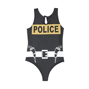 Body/Collant Policial Adulto